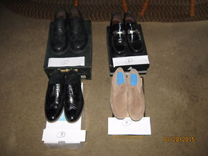Three pairs of new mens` expensive dress shoes