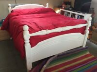 Double Bed: Solid Pine, painted white