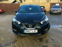 2017 Nissan Micra 0.9 IG-T N-Connecta 5dr Manual Black Full Service History