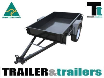 6x4 Box Trailer - 750kg GVM - Front & Rear Tailgates-New Wheels Thomastown Whittlesea Area Preview