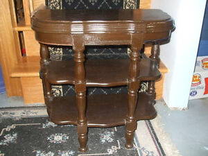 Vintage 3 Tier Wooden Table