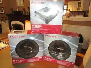Pioneer Car Audio Amp and Subwoofers