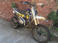 Used once 125cc pit bike