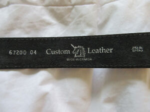 Size 42 leather belt (never used) by Custom Leather