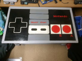 CUSTOM NES NINTENDO PAINTED TABLE MANCAVE GAMES ROOM