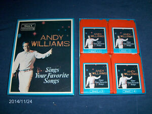 ANDY WILLIAMS-BOXED SET OF 8 TRACK CASSETTES-READERS DIGEST
