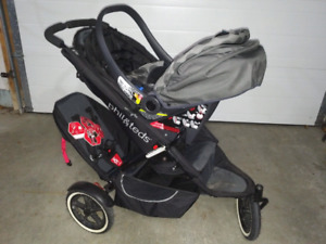 Phil and Teds Stroller with Peg Perego Car seat