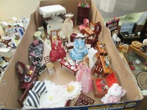 Lovely doll house 1/12th furniture, to completely furnish house.