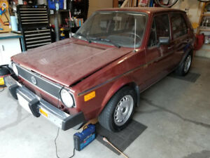 F.S 1979 VW Rabbit 1.5L, 4 door, Auto, Sunroof