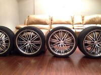 """Vossen VVS-082 19"""" Staggered Rims with Tires 5x114.3"""