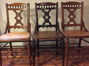 3 Antique Eastlake Chairs
