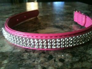 Pink Leather Collar Brand New !