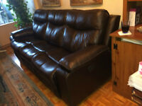 Sofa inclinable avec chaisse inclinable /Sofa Couch and Armchair