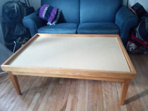 Double-face coffee table for sale.