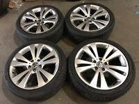 "18"" Vw Volkswagen seat Skoda Audi alloy wheels alloys rims tyres 5x112"