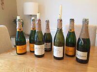 Candle holder wine/champagne bottles