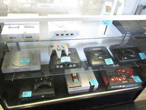 Great selection of vintage consoles