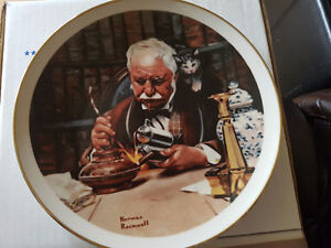 "Norman Rockwell decorative plate ""the tinkerer"""