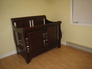 Solid Wood Shermag Crib and Dresser/Change Table