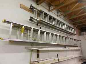 Sturdy extension ladders 24' x 2 and 36' x 2