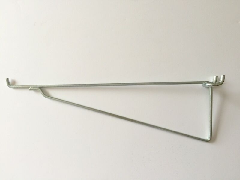 """(8 Pack) Metal 12 Inch Mega Shelf Bracket Garage Hanger for 1/8"""" & 1/4"""" Pegboar"""