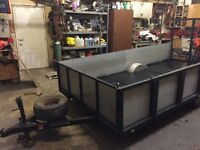 6x12 with aluminum sides and 3/4 plywood floor