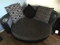 Audio cuddle sofa and two seater sofa