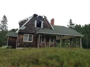 5 acre Lot and burnt house for Sale in Upper Stewiacke