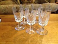 Edinburgh crystal x6 sherry glasses