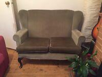 Olive Wingback Sofa