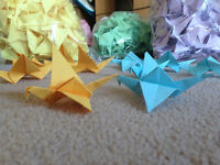Colourful Origami Cranes