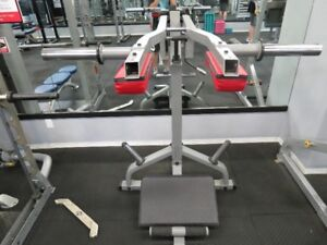 Exercise equipment- assissted squat machine