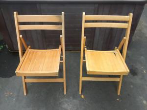 2x chaise pliante en bois