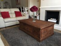 Solid Pine Coffee Table With Big Storage Draw(furniture/shabby Chic/bespoke)
