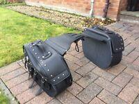 Motorbike saddle bags. Harley davisdon style cruiser