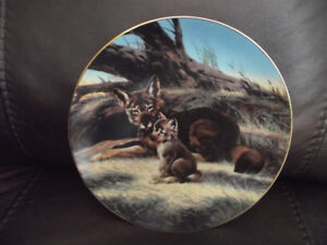 """Bradex Collectors Plate 84-G20-15.3 """"The Red Wolf"""" Will Nelson"""