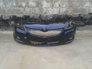 Used factory front bumper from a 2006-13 Toyota Yaris(BP0201)