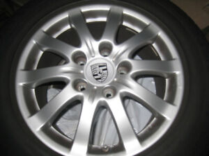 "Set of 4 Porsche Cayenne Stock 17"" Rims and Tires"