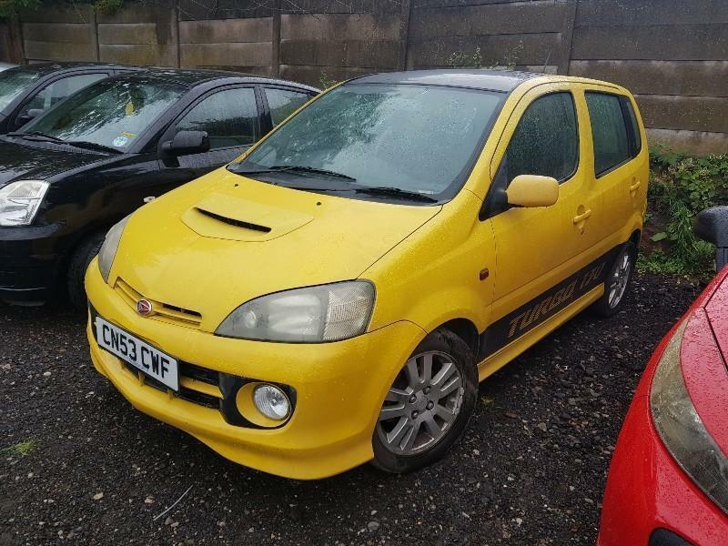 2003 53 Daihatsu Yrv 13 Turbo 130 Automatic 5dr Hatchback Yellow