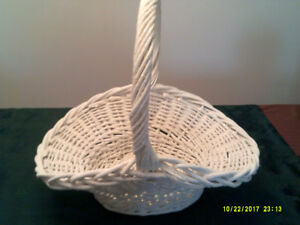 LARGE WINTER WHITE ICE CRYSTAL BASKET FOR SALE