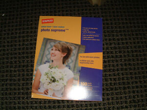 "Laser Photo Paper 8 x 11"" , 100 sheets  glossy, new box"
