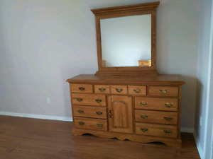 Mirror dresser and two nightstands