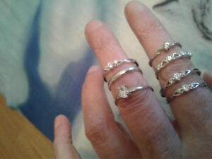 7 sterling silver rings never worn