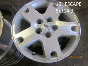 SETS OF FOUR (4) FORD & MAZDA WHEELS @ PIC N SAVE WOODSTOCK
