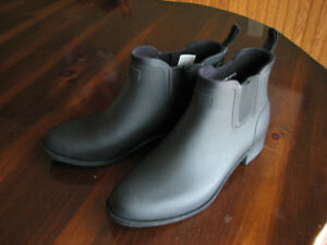 Black HUNTER ankle boots W 10 US Chelsea