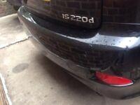 Lexus is220d rear bumper black 06+ breaking spares is 220d is250 220 250