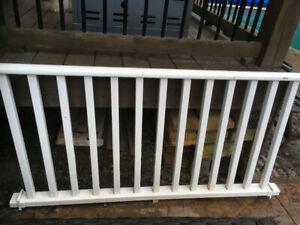 White Resin Deck Rails