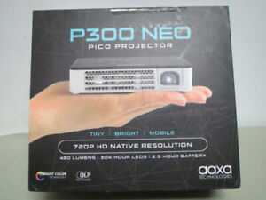 New AAXA 720p HD LED DLP Pico Wireless Projector HDMI 420 Lumen