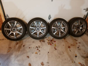 Alloy wheels and winter tires