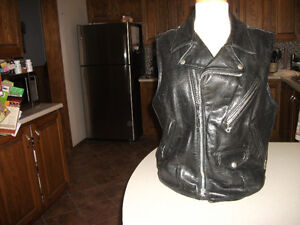 1970s vintage schott perfect made in USA. leather motocycle vest